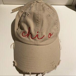 Distressed Chi Omega Hat